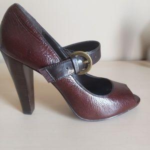 RSVP Mary Jane peeptoe heels
